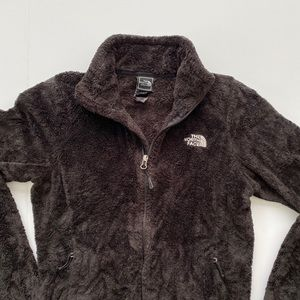 The North Face full zip fuzzy fleece sweatshirt